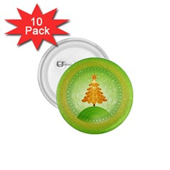 Beautiful Christmas Tree Design 1.75  Buttons (10 pack)