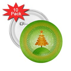Beautiful Christmas Tree Design 2.25  Buttons (10 pack)