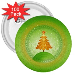Beautiful Christmas Tree Design 3  Buttons (100 pack)