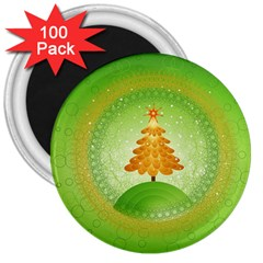 Beautiful Christmas Tree Design 3  Magnets (100 pack)