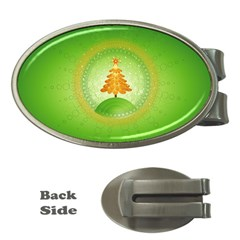 Beautiful Christmas Tree Design Money Clips (Oval)