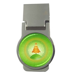 Beautiful Christmas Tree Design Money Clips (Round)