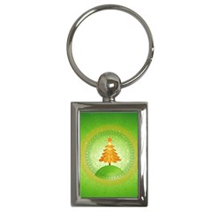 Beautiful Christmas Tree Design Key Chains (Rectangle)