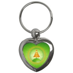 Beautiful Christmas Tree Design Key Chains (Heart)