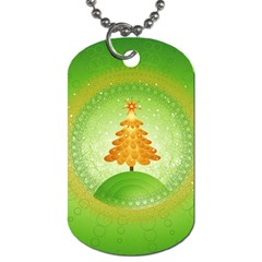 Beautiful Christmas Tree Design Dog Tag (One Side)