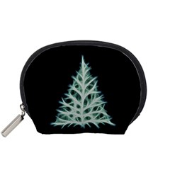 Christmas fir, green and black color Accessory Pouches (Small)