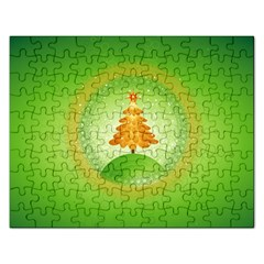 Beautiful Christmas Tree Design Rectangular Jigsaw Puzzl