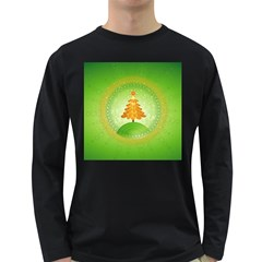 Beautiful Christmas Tree Design Long Sleeve Dark T-Shirts