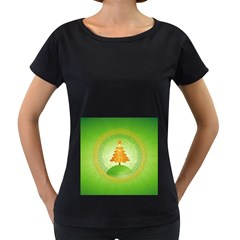 Beautiful Christmas Tree Design Women s Loose-Fit T-Shirt (Black)