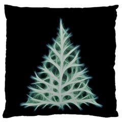 Christmas fir, green and black color Large Flano Cushion Case (Two Sides)