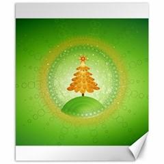 Beautiful Christmas Tree Design Canvas 8  x 10