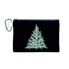 Christmas fir, green and black color Canvas Cosmetic Bag (M)