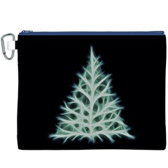 Christmas fir, green and black color Canvas Cosmetic Bag (XXXL)