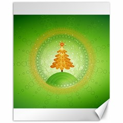 Beautiful Christmas Tree Design Canvas 11  x 14