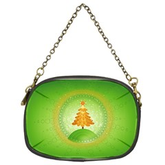 Beautiful Christmas Tree Design Chain Purses (Two Sides)