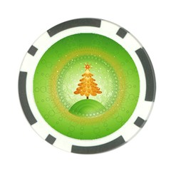 Beautiful Christmas Tree Design Poker Chip Card Guards (10 pack)