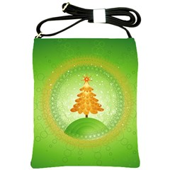 Beautiful Christmas Tree Design Shoulder Sling Bags