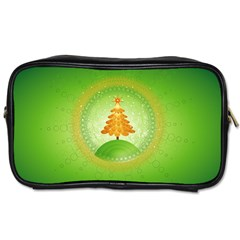 Beautiful Christmas Tree Design Toiletries Bags