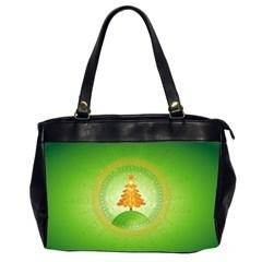Beautiful Christmas Tree Design Office Handbags (2 Sides)