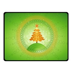 Beautiful Christmas Tree Design Fleece Blanket (Small)