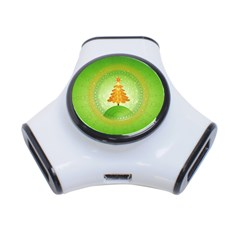 Beautiful Christmas Tree Design 3-Port USB Hub