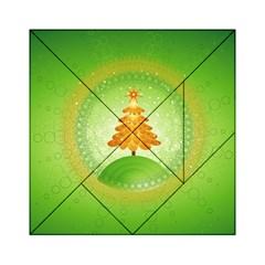 Beautiful Christmas Tree Design Acrylic Tangram Puzzle (6  x 6 )