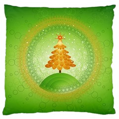Beautiful Christmas Tree Design Large Cushion Case (Two Sides)