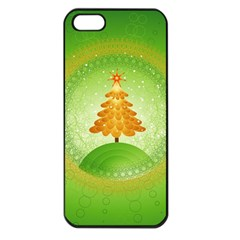 Beautiful Christmas Tree Design Apple iPhone 5 Seamless Case (Black)