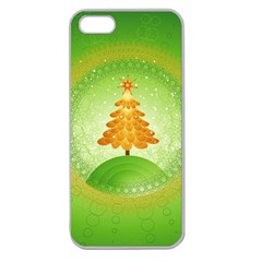 Beautiful Christmas Tree Design Apple Seamless iPhone 5 Case (Clear)