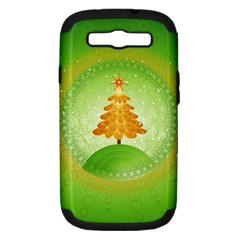 Beautiful Christmas Tree Design Samsung Galaxy S III Hardshell Case (PC+Silicone)