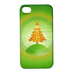 Beautiful Christmas Tree Design Apple iPhone 4/4S Hardshell Case with Stand