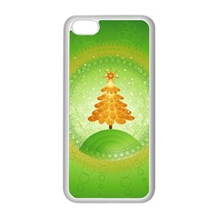 Beautiful Christmas Tree Design Apple iPhone 5C Seamless Case (White)