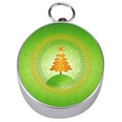 Beautiful Christmas Tree Design Silver Compasses