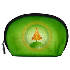 Beautiful Christmas Tree Design Accessory Pouches (Large)