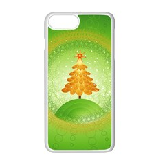 Beautiful Christmas Tree Design Apple iPhone 7 Plus White Seamless Case