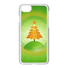 Beautiful Christmas Tree Design Apple iPhone 7 Seamless Case (White)