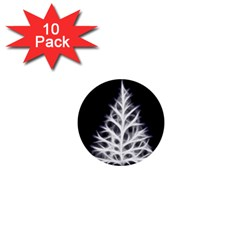 Christmas fir, black and white 1  Mini Buttons (10 pack)