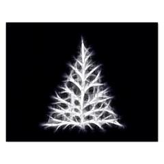 Christmas fir, black and white Rectangular Jigsaw Puzzl