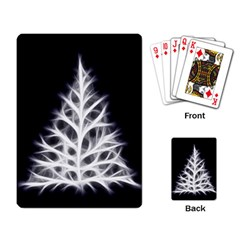 Christmas fir, black and white Playing Card