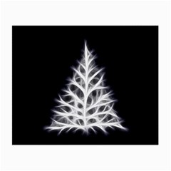 Christmas fir, black and white Small Glasses Cloth (2-Side)