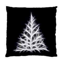 Christmas fir, black and white Standard Cushion Case (One Side)