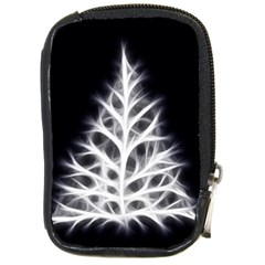 Christmas fir, black and white Compact Camera Cases