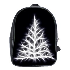 Christmas fir, black and white School Bags(Large)