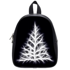 Christmas fir, black and white School Bags (Small)