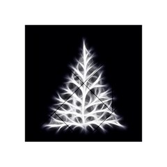 Christmas fir, black and white Acrylic Tangram Puzzle (4  x 4 )