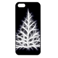 Christmas fir, black and white Apple iPhone 5 Seamless Case (Black)