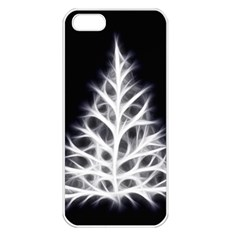 Christmas fir, black and white Apple iPhone 5 Seamless Case (White)