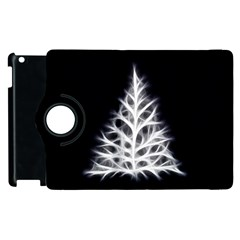 Christmas fir, black and white Apple iPad 3/4 Flip 360 Case