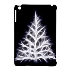 Christmas fir, black and white Apple iPad Mini Hardshell Case (Compatible with Smart Cover)