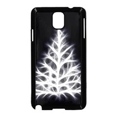 Christmas fir, black and white Samsung Galaxy Note 3 Neo Hardshell Case (Black)